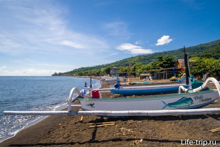 Пляж Амед (Amed Beach) - черный северо-восток Бали