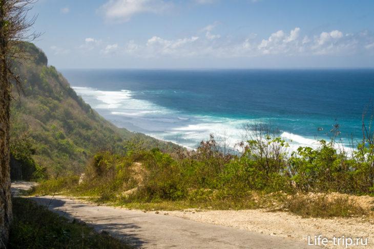 Пляж Ньянг-Ньянг на Бали, спуск к океану