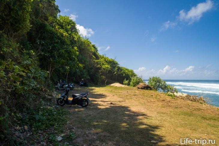 Нижняя парковка пляжа