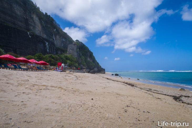 Пляж Пандава, вид в сторону Тимбис Бич