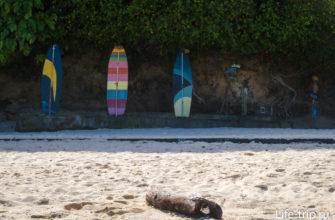 Душевые на пляже