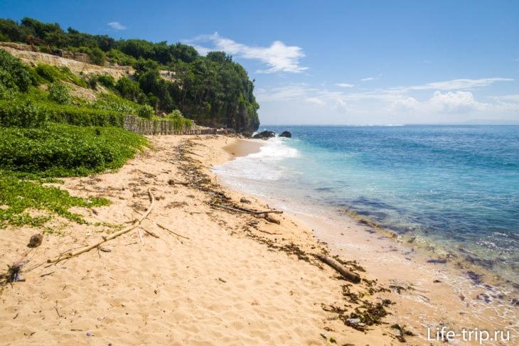 Пляж Саванган, самый левый край пляжа