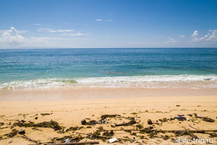 Пляж Саванган (Sawangan Beach) - красиво, но не везде