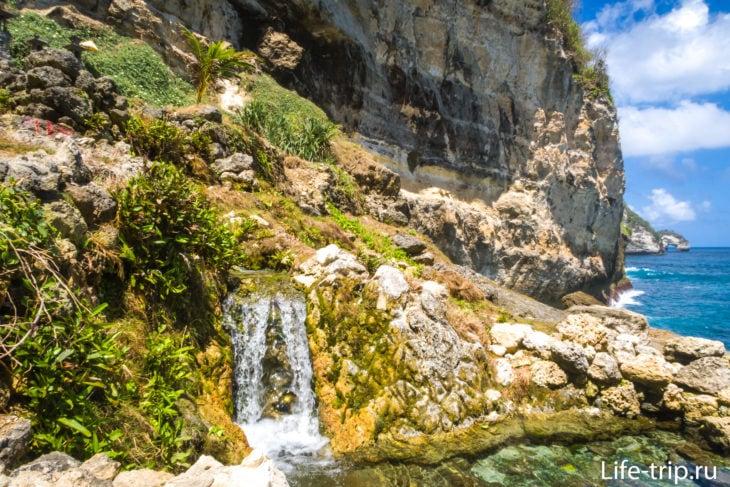 Водопад Сганинг на Нуса Пениде