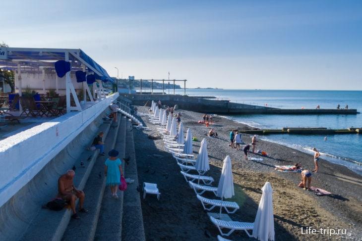 Пляж Куба - яркий берег Мамайки