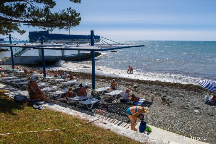 Пляж санатория Эдем в Сочи