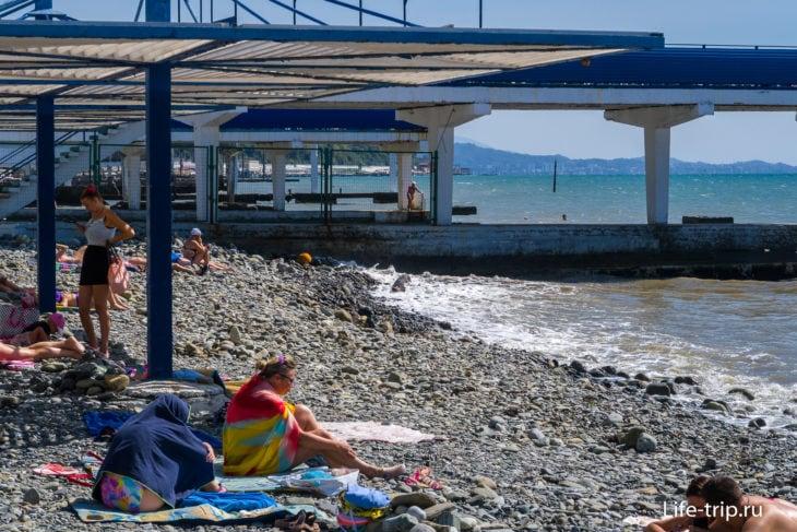 Пляж Эдем - суровый рай для аскетов в Сочи