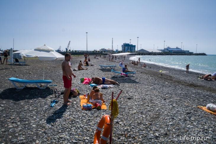 Пляж Островок в Сочи