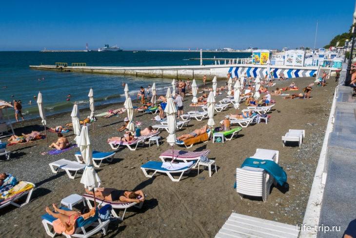 Пляж Приморский в Сочи - мой гид по лабиринту