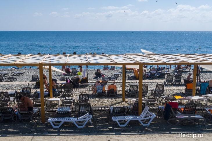 Пляж Роза Хутор в Имеретинской низменности