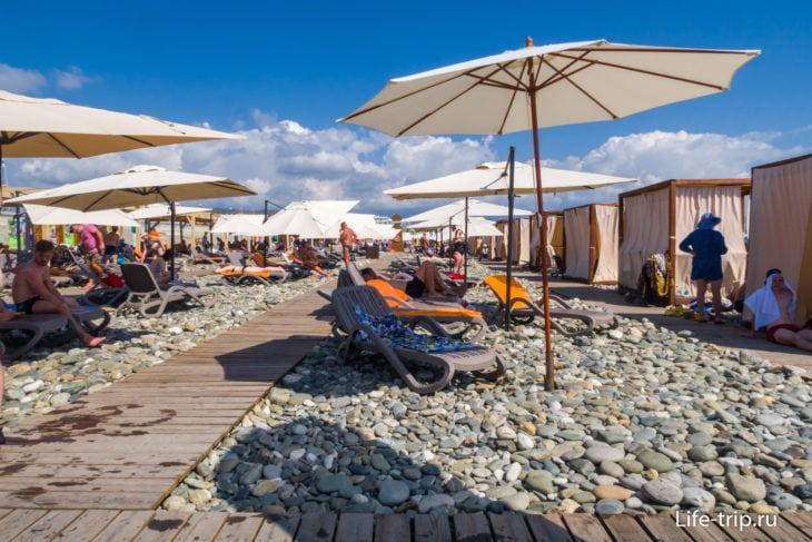 Пляж Роза Хутор в Сочи