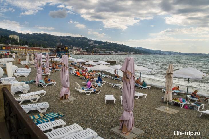 Пляж Мыс Видный в Сочи