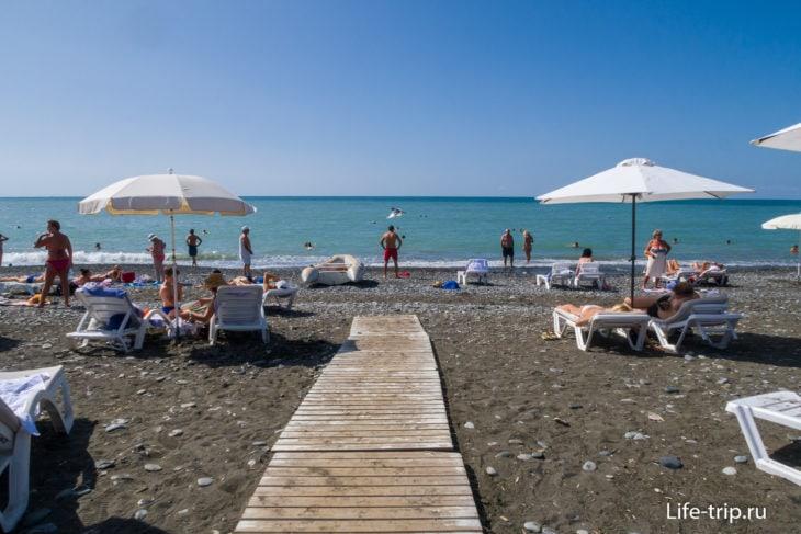 Пляж Звездный - европейская ривьера в Сочи