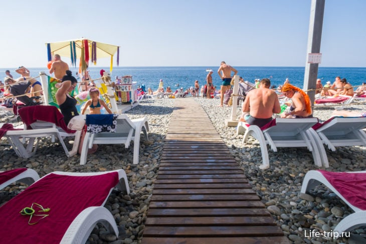 Пляж Бридж Резорт - классика Имеретинки