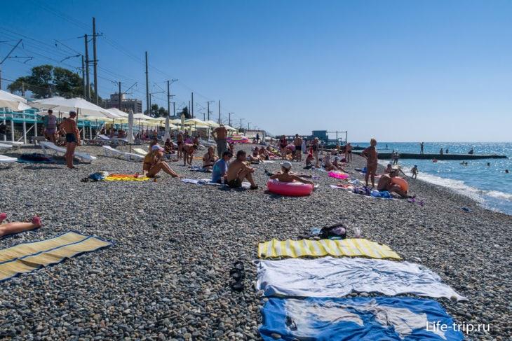 Чкаловский - пляж для отдыха с детьми в Сочи
