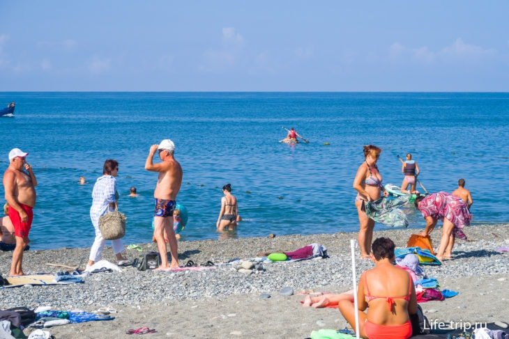 Огонек - лучший пляж Адлера