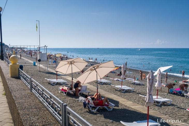 Пляж Огонек-2 в Адлере