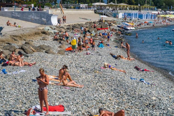 Олимпийский - дикий пляж в Имеретинке