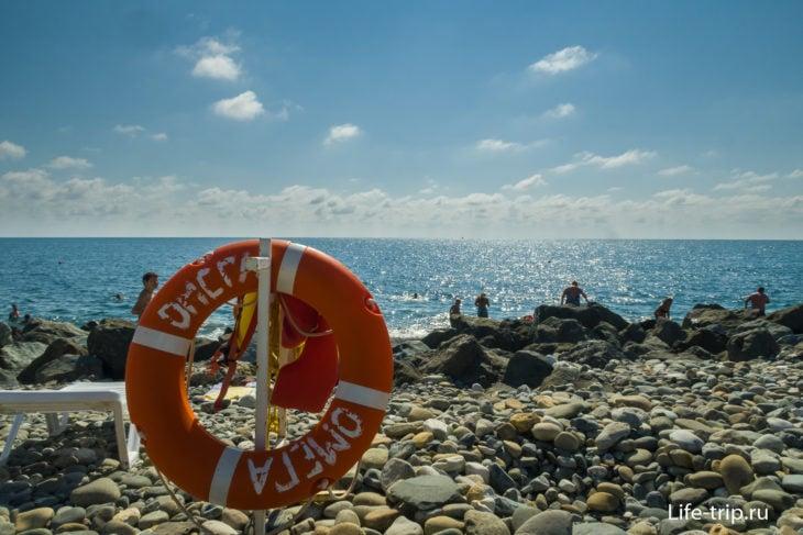 Пляж Омега Сириус в Сочи