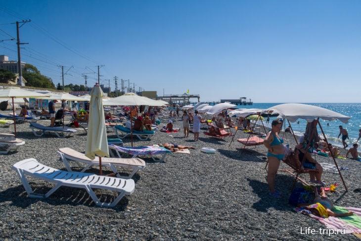 Пляж Фрегат в Адлере