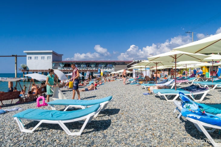 Пляж Фрегат - он же пляж Причал