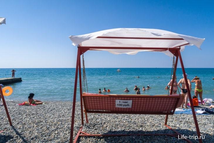 Пляж Фрегат (Причал) в Адлере