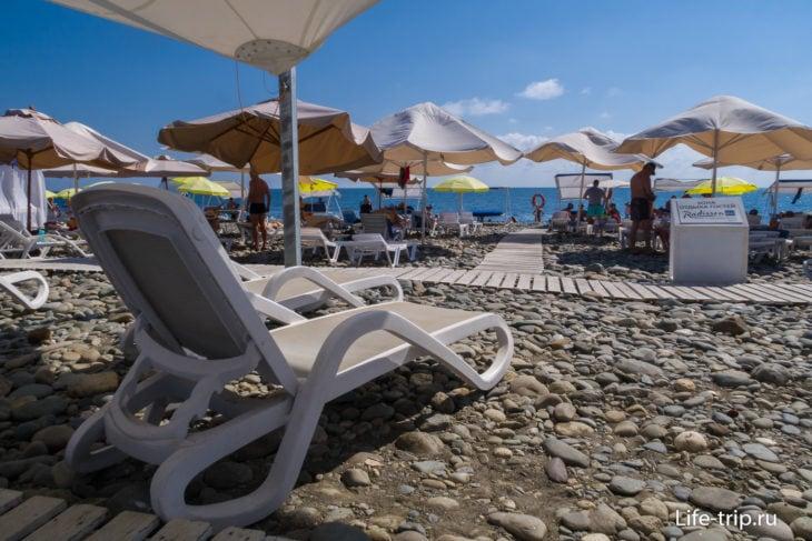 Пляж Radisson Blu в Сочи