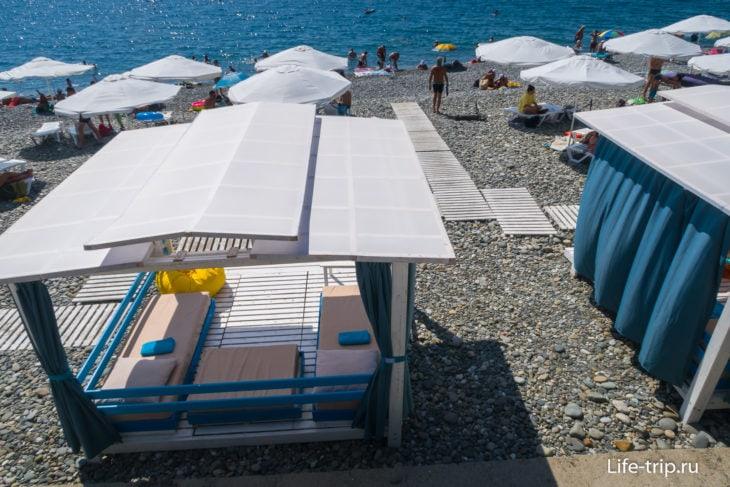 Пляж отеля Сигма Сириус в Сочи