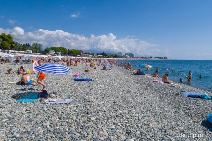 Пляж Сочи Парк Отеля - здесь легко потеряться
