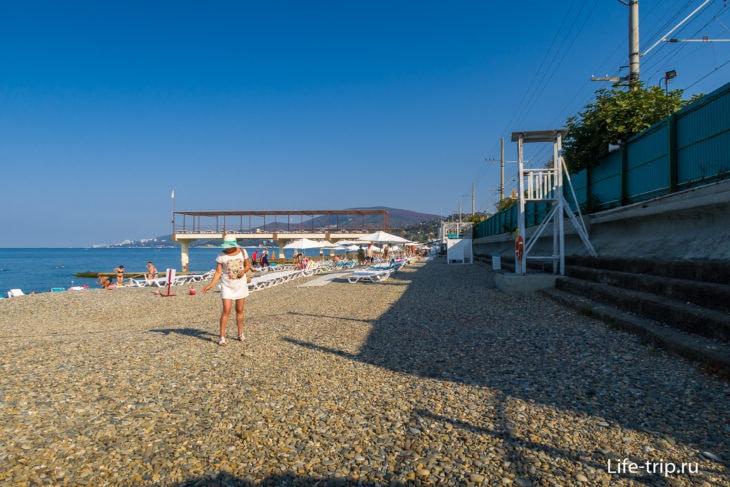 Пляж Знание в Адлере