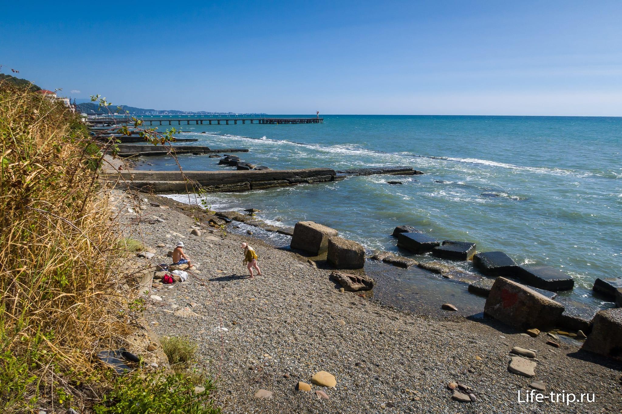 Дикий пляж в Мацесте, Сочи