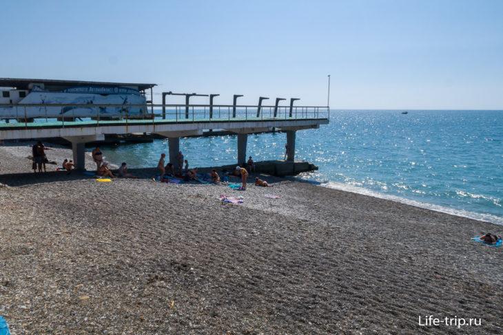 Пляж Автомобилист - заброшенный берег в Кудепсте