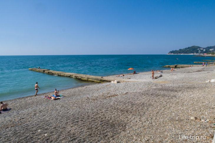 Пляж Автомобилист в Кудепсте