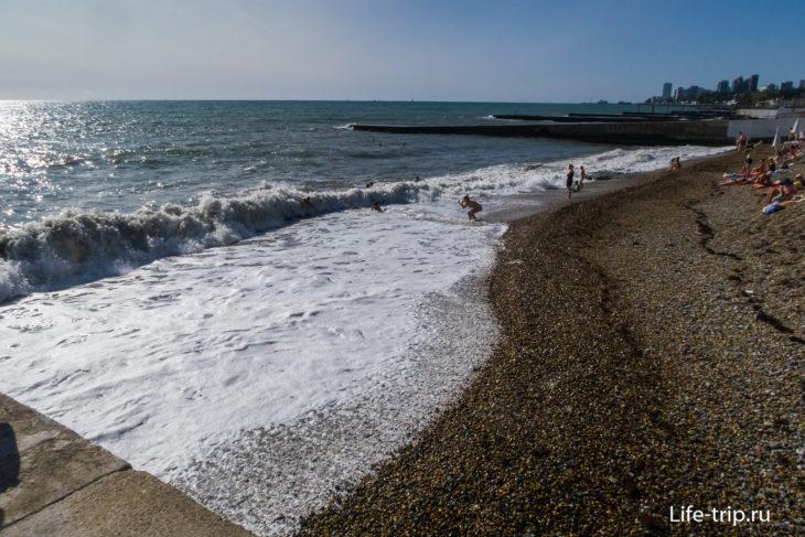 Пляж Бытха в Сочи