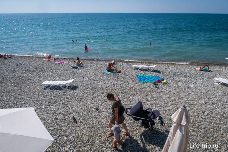 Кудепста - пляж с каменными грибами