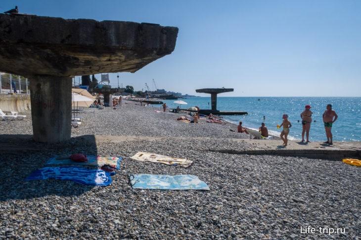 Пляж санатория Кудепста, Сочи