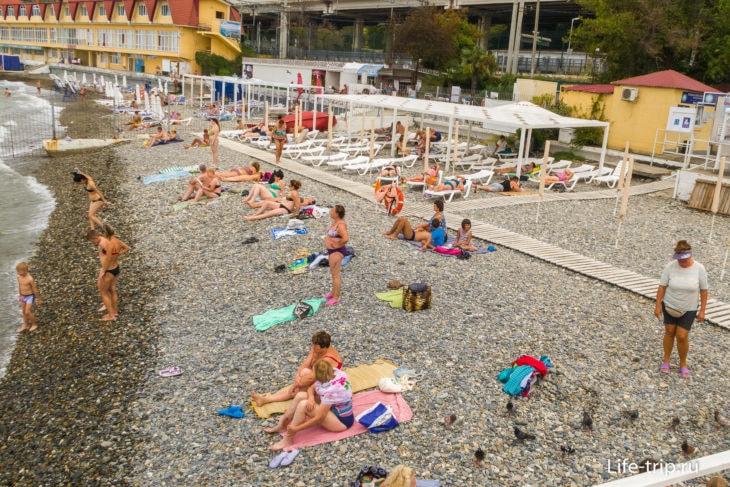 Освод - городской пляжик в Хосте