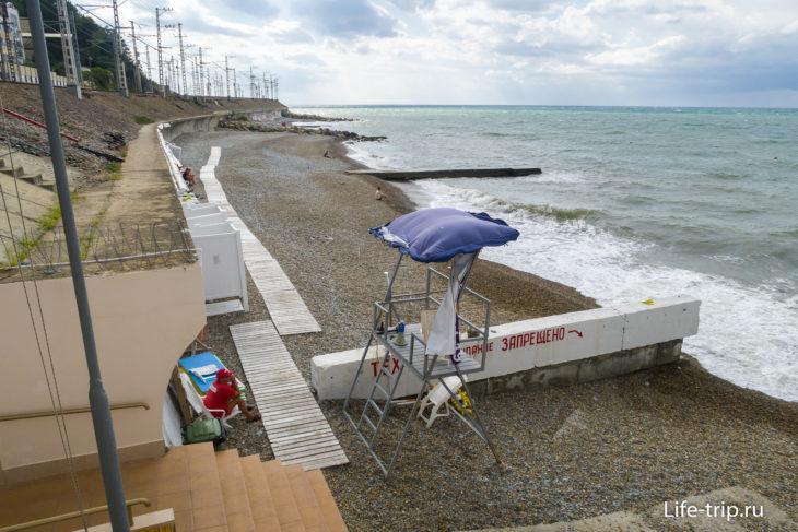Пляж Победа в Хосте, Сочи