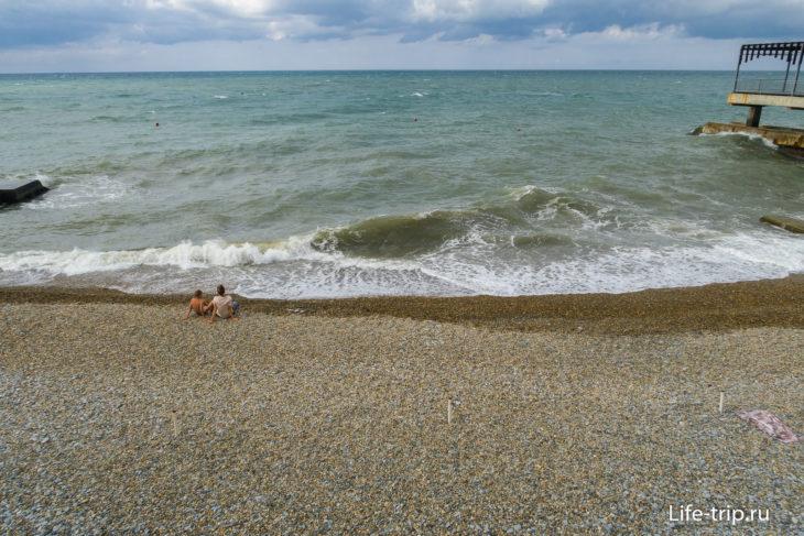 Победа - закрытый пляж санатория в Хосте