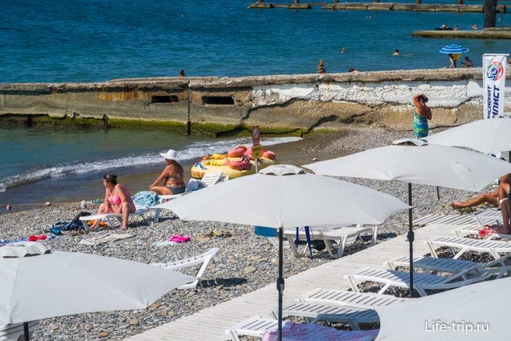 Робинзон - лучший пляж Кудепсты