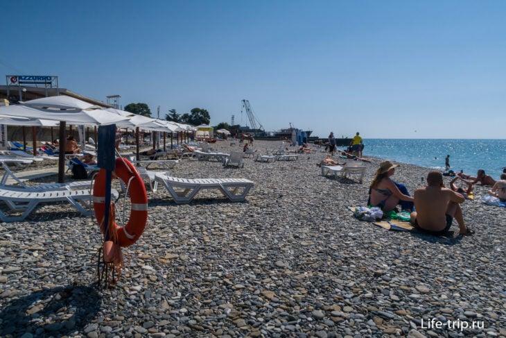 Пляж Робинзон в Кудепсте, Сочи