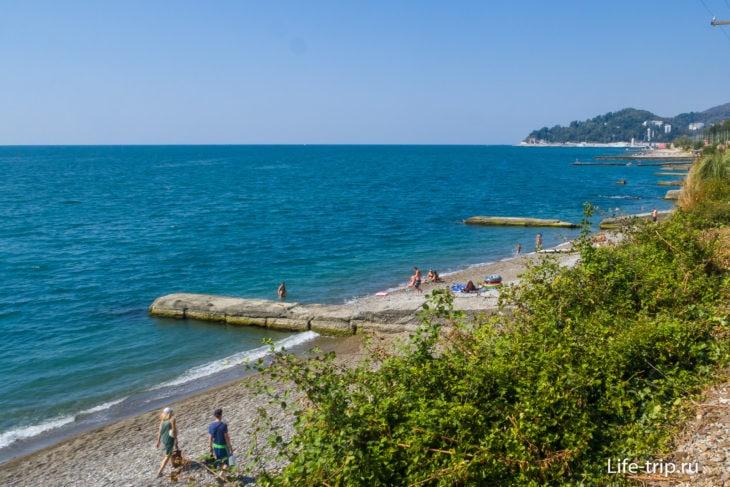 Пляж Семафор в Кудепсте, Сочи