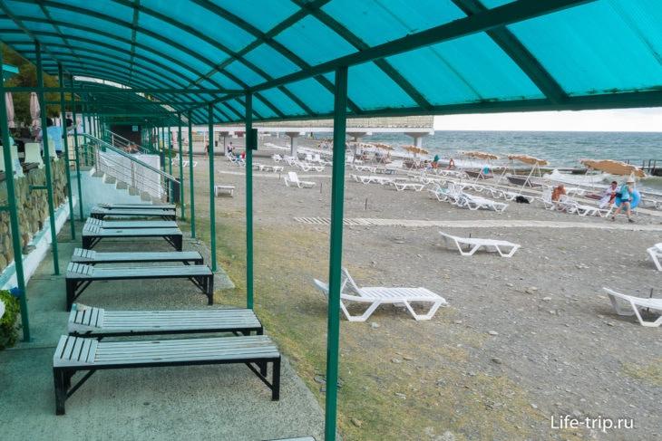 Пляж Волна в Хосте, Сочи