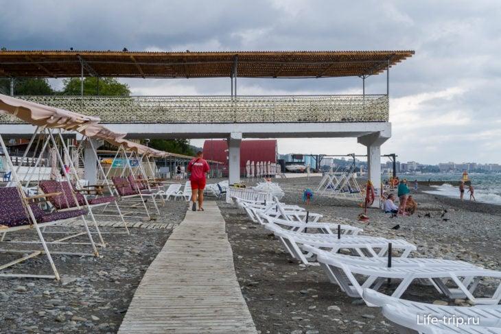 Волна в Хосте - пляж с отелем на первой линии