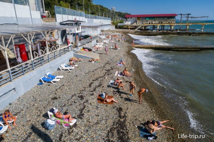 Пляж Заря в Сочи