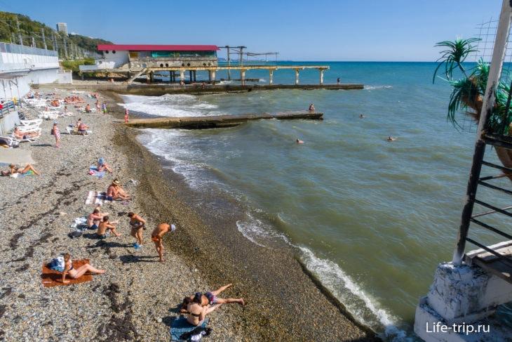Пляж Заря в Мацесте, Сочи