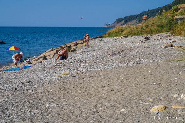 Пляж 73-й км в Сочи