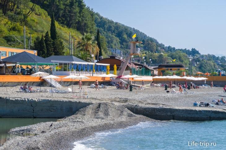 Пляж Adagio (Дагомыс)