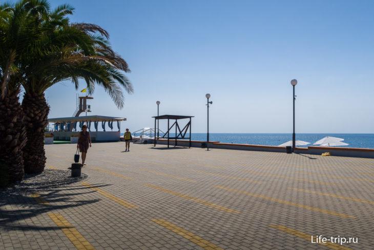 Пляж Adagio - частный пляж в Дагомысе
