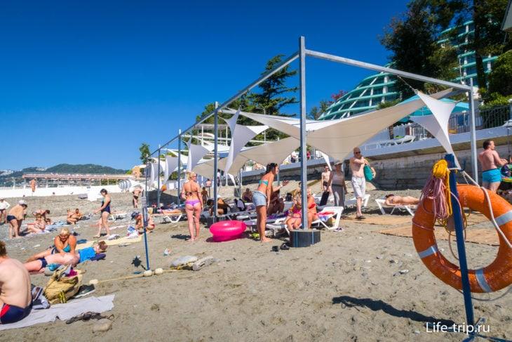 Пляж Альбатрос в Сочи